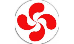 Croix Basque rouge fond blanc