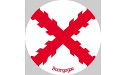sticker / autocollant croix bâtons de bourgogne