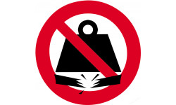 Sticker autocollant charge interdite