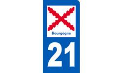 immatriculation motard 21 de la Bourgogne