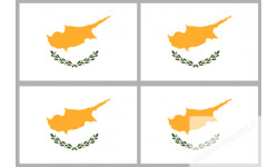 Sticker / autocollant : drapeau officiel Chypre