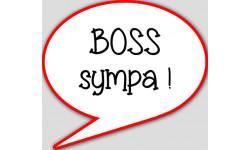 stickers / autocollant boss choqué