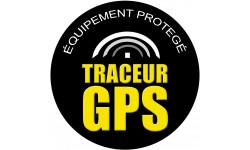 Sticker / autocollant : traceur GPS - 10cm