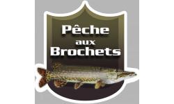 autocollant Pêche aux Brochets
