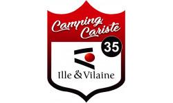 Sticker / autocollant : blason camping cariste Ille et Vilaine 35 - 15x11.2cm