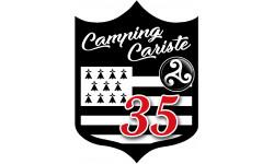 Sticker / autocollant : blason camping Breton 35 - 10x7.5cm
