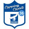Sticker / autocollant : blason camping cariste Indre 36 - 15x11.2cm