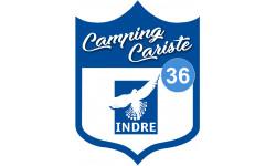Sticker / autocollant : blason camping cariste Indre 36 - 10x7.5cm