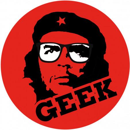 Sticker / autocollant : geek Che Guevara - 10cm