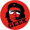 Sticker / autocollant : geek Che Guevara - 5cm