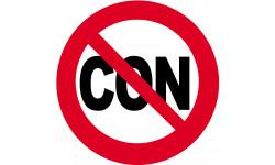 Sticker / autocollant : Interdit au con - 15cm