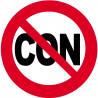 Sticker / autocollant : Interdit au con - 10cm