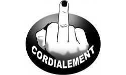 doigt d'honneur cordialement