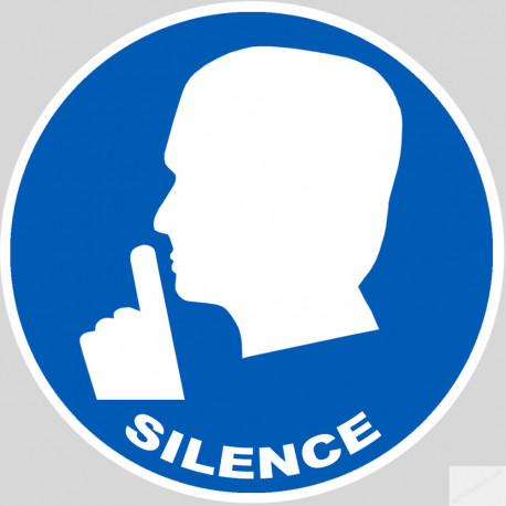 Sticker autocollant silence
