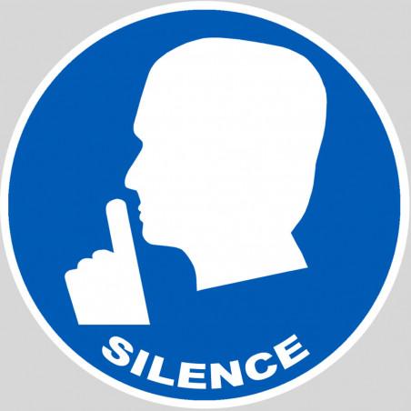 Sticker / autocollant : Silence - 15cm