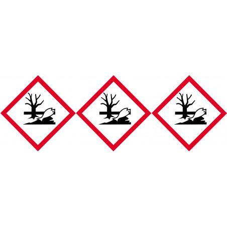 Sticker / autocollant : produits néfastes sur l'environnement - 3 fois 5cm