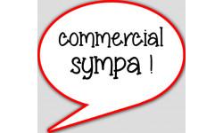 stickers / autocollant commerciale sympa