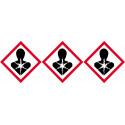 Sticker / autocollant : produits cancérogènes mutagènes toxiques - 3 fois 5cm