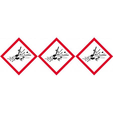 Sticker /autocollant : produits peuvent exploser - 3 fois 5cm