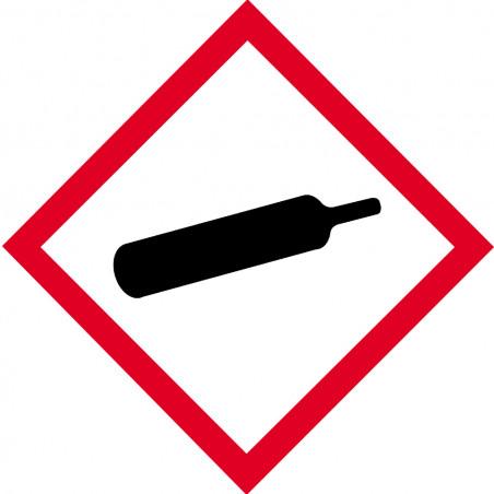 Sticker / autocollant : produit gaz sous pression - 15cm