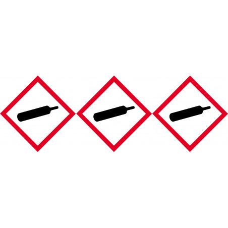 Sticker / autocollant : produit gaz sous pression - 3 fois 5cm