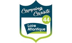 Sticker / autocollant : blason camping cariste Loire Atlantique 44 - 10x7.5cm