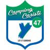 Sticker / autocollant : blason camping cariste Lot et Garonne 47 - 20x15cm