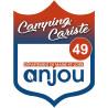 Sticker / autocollant : blason camping cariste anjou 49 - 15x11.2cm