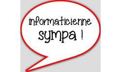 stickers / autocollant informaticienne à l'écoute