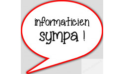stickers / autocollant informaticienne sympa