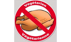 végétarien et végétarienne poulet