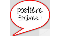 stickers / autocollant postiere timbree