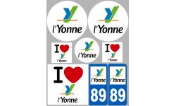 stickers / autocollant département de l'Yonne