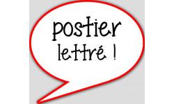 stickers / autocollant postier lettré