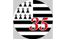 Stickers / autocollant Bretagne 35