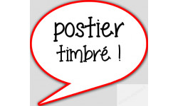 stickers / autocollant postier timbre