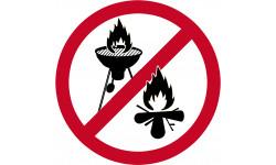 feu et barbecue Interdit
