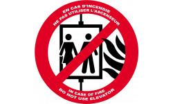 En cas d'incendie ne pas utiliser l'ascenceur