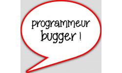 stickers / autocollant programmeur bugger
