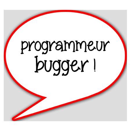 Autocollants : Autocollant programmeur bugger