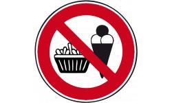 pictogramme interdit de manger