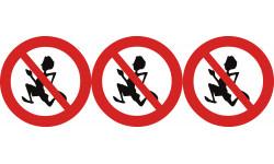pictogramme interdit de courir