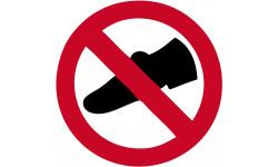 pictogramme Chaussures interdit