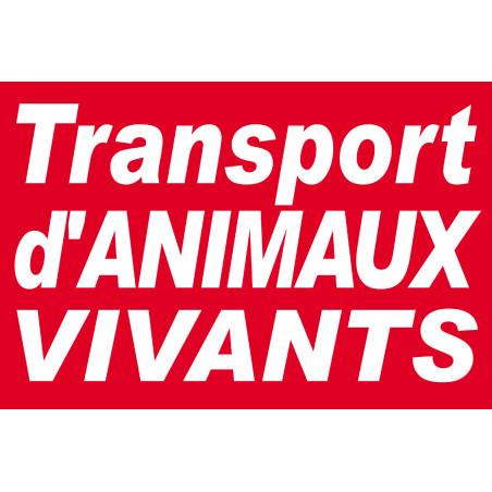Sticker / autocollant : Transport d'animaux vivants - 30x20cm