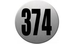 numéroderue374 gris brossé