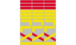 circuits de randonnées jaunes et rouges