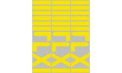 circuits de randonnées jaunes