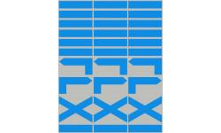 Balises circuits de randonnées bleus