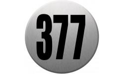 numéroderue377 gris brossé