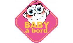 Sticker / autocollant : Baby a bord fille - 10cm